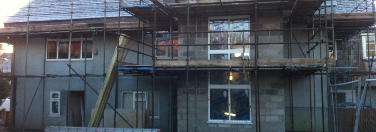 3 - Rear Elevation Under Construction