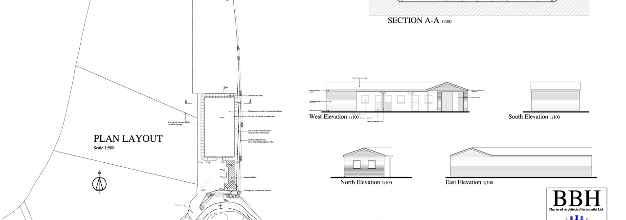 4 - Stables and Menage Planning Approval Dwg